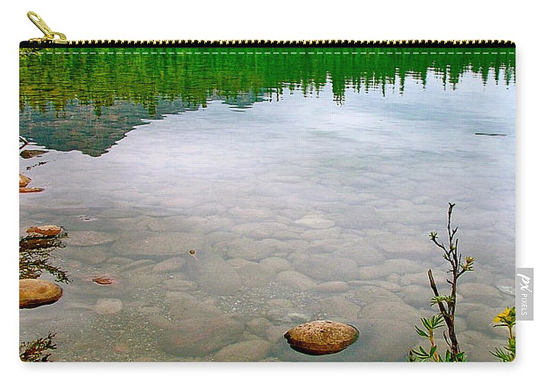 Carry-all Pouch featuring the photograph Beauvert Lake In Jasper Np-ab by Ruth Hager