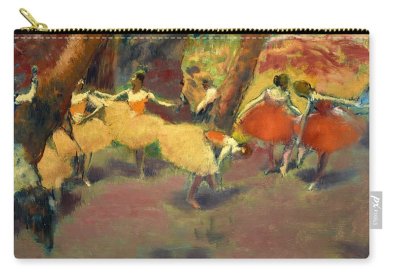 Edgar Degas Carry-all Pouch featuring the painting Before The Performance by Edgar Degas
