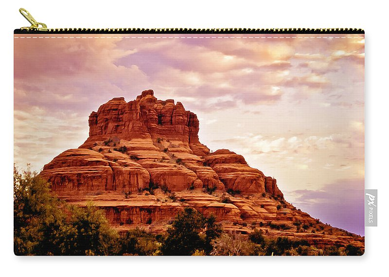 Bell Rock Carry-all Pouch featuring the painting Bell Rock Vortex Painting by Bob and Nadine Johnston