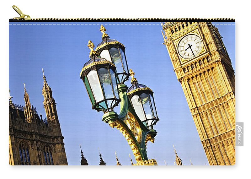 Big Carry-all Pouch featuring the photograph Big Ben And Palace Of Westminster by Elena Elisseeva