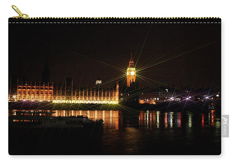 London Carry-all Pouch featuring the photograph Big Ben And The House Of Parliment On The Thames by Doc Braham