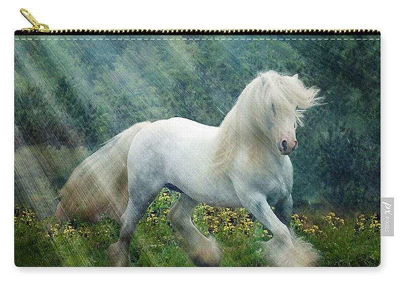 Horse Photographs Carry-all Pouch featuring the photograph Billy Rays by Fran J Scott