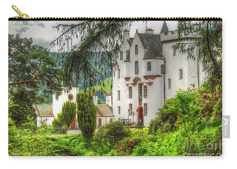 Castle Carry-all Pouch featuring the photograph Blair Castle by Traci Law