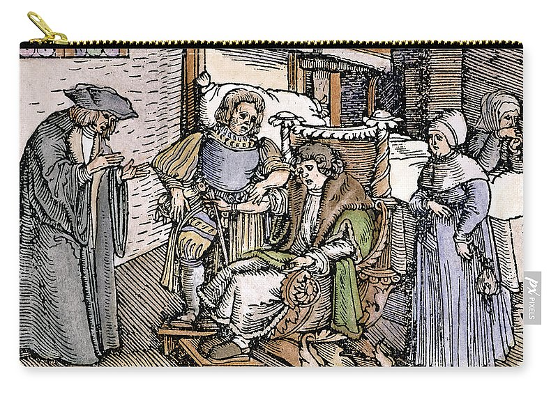 1540 Carry-all Pouch featuring the photograph Bloodletting, 1540 by Granger