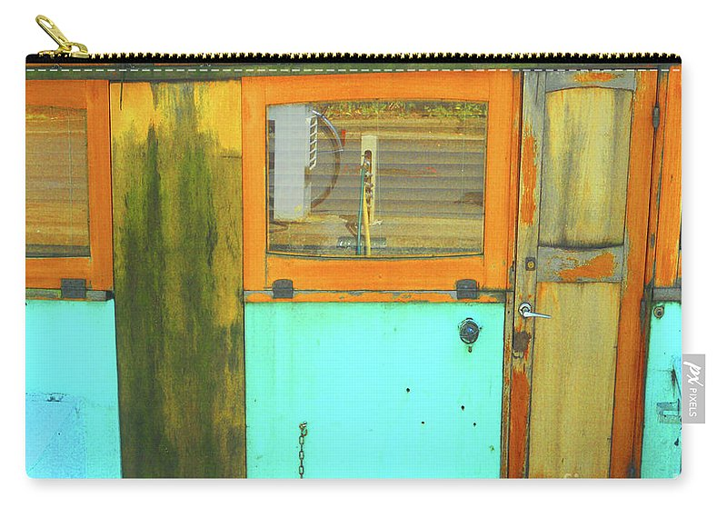 Abstract Carry-all Pouch featuring the photograph Blue Boat by Lauren Leigh Hunter Fine Art Photography