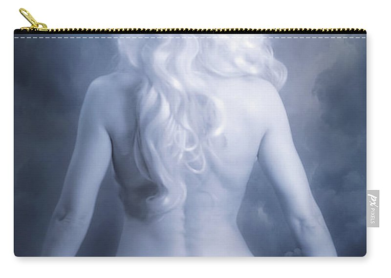 Art Carry-all Pouch featuring the photograph Blue Dream by Svetlana Sewell