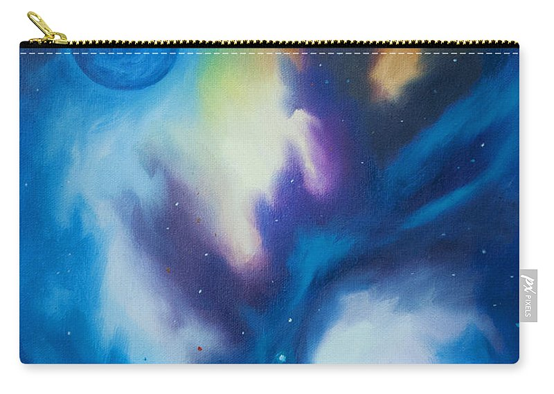 James Christopher Hill Carry-all Pouch featuring the painting Blue Giant by James Christopher Hill