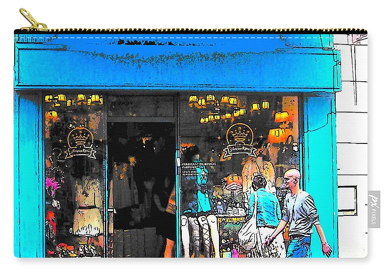 Paris Carry-all Pouch featuring the photograph Got The Blues In Paris by Jan Matson