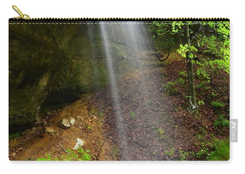 Waterfall Carry-all Pouch featuring the photograph Bluff View by Deanna Cagle