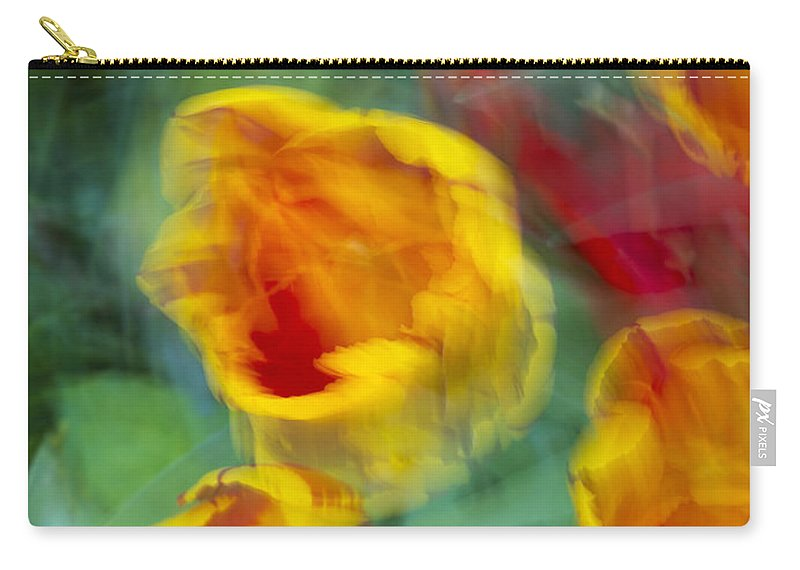Tulips Carry-all Pouch featuring the photograph Blurred Tulips by Chevy Fleet