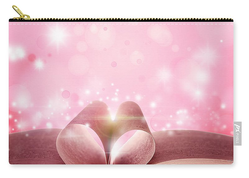 Heaven Carry-all Pouch featuring the photograph Book Love by Les Cunliffe