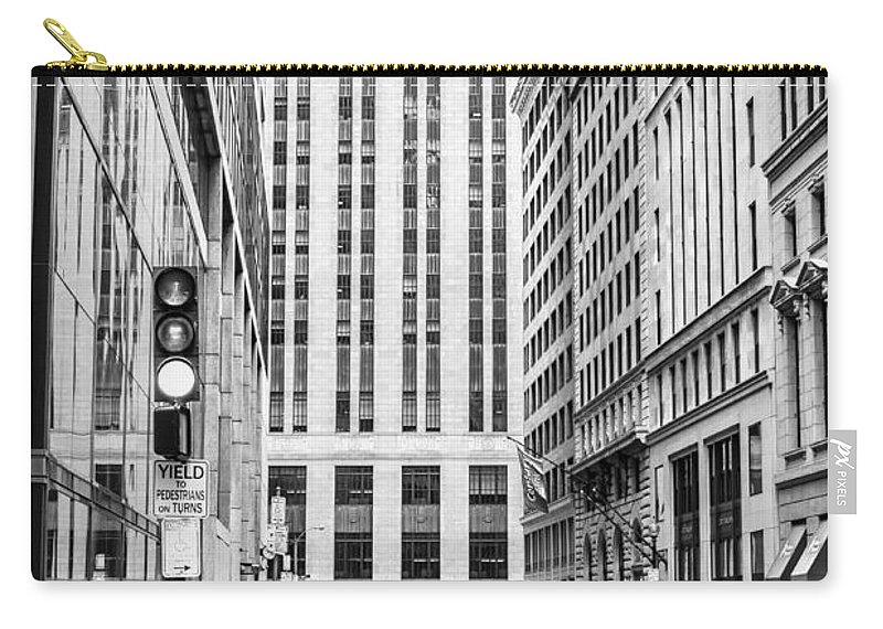 Boston Downtown Carry-all Pouch featuring the photograph Boston Downtown by Boris Mordukhayev