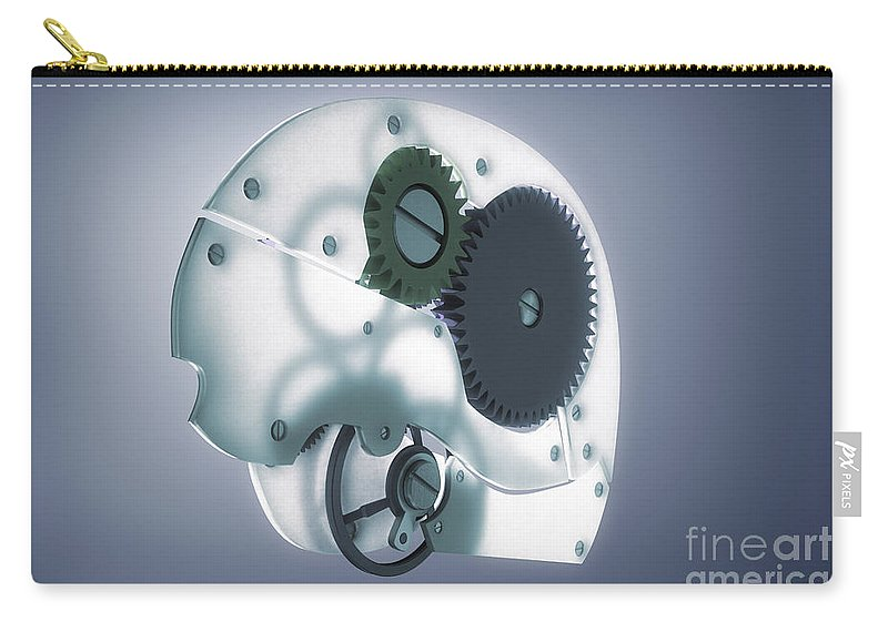 3d Visualisation Carry-all Pouch featuring the photograph Brain Mechanism by Science Picture Co
