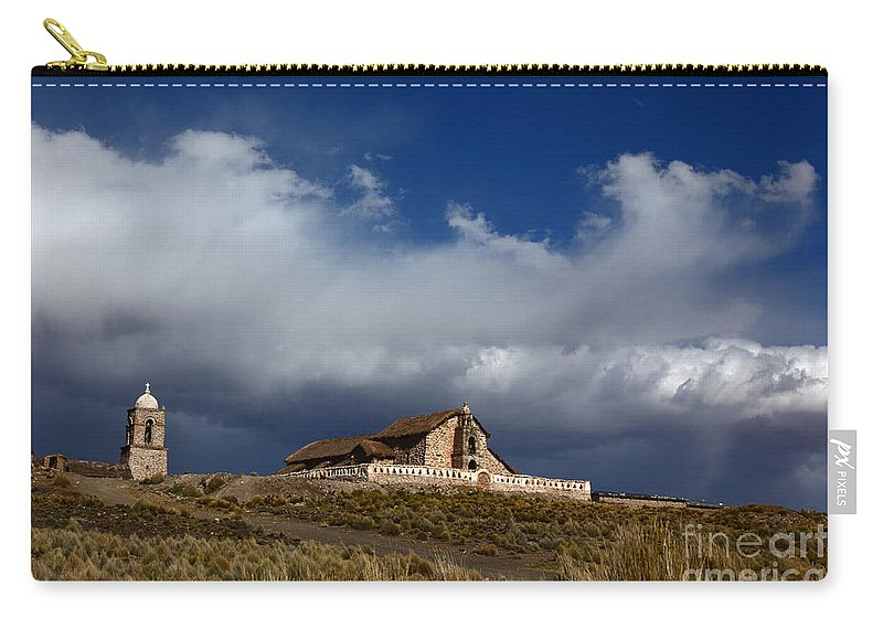 Church Carry-all Pouch featuring the photograph Braving The Elements by James Brunker