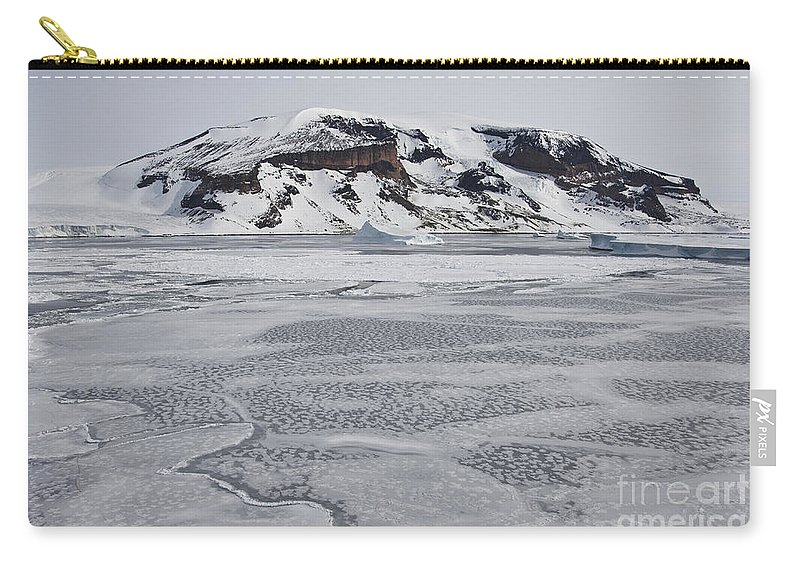 Pack Ice Carry-all Pouch featuring the photograph Brown Bluff, Antarctica by John Shaw