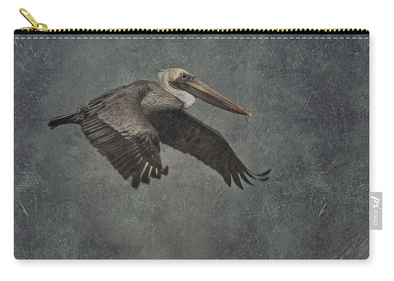 Pelican Carry-all Pouch featuring the photograph Brown Pelican 2 by Ernie Echols