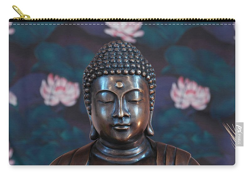 Jeff Black Carry-all Pouch featuring the photograph Buddha Statue Denver by Jeff Black