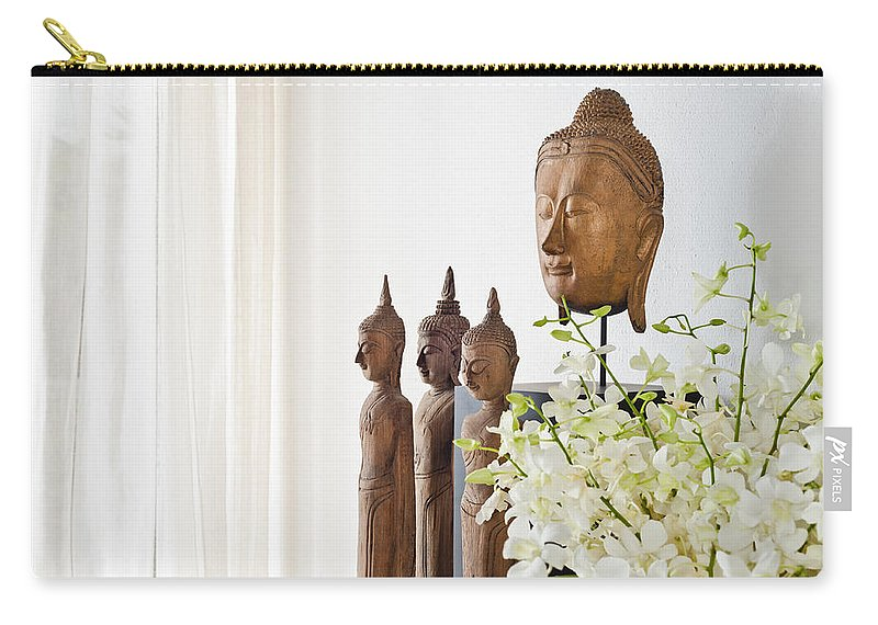 Day Carry-all Pouch featuring the photograph Buddha by U Schade