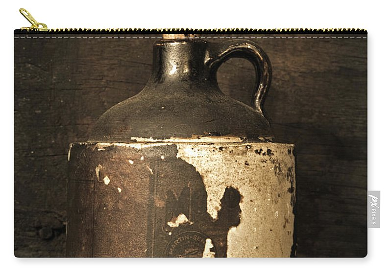 Moonshine Carry-all Pouch featuring the photograph Buddy Bear's Little Brown Jug by John Stephens