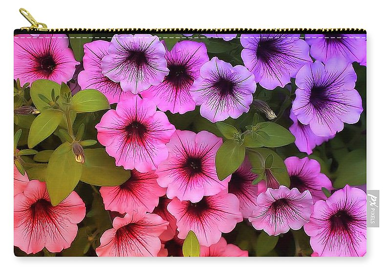 Flower Carry-all Pouch featuring the photograph Bunch by Joyce Baldassarre