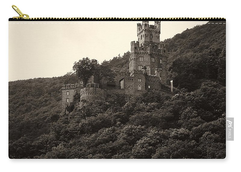 Alankomaat Carry-all Pouch featuring the photograph Burg Sooneck Am Rhine by Jouko Lehto