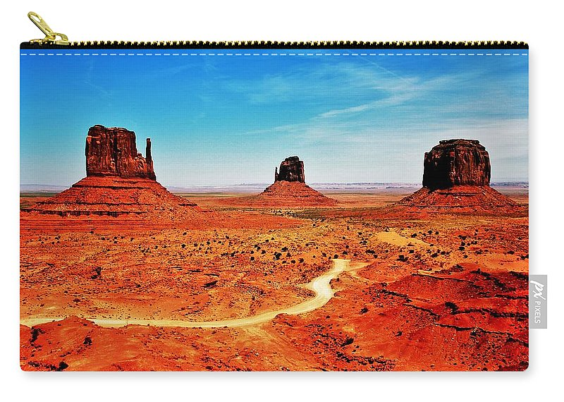 Monument Valley Carry-all Pouch featuring the photograph Buttes by Benjamin Yeager