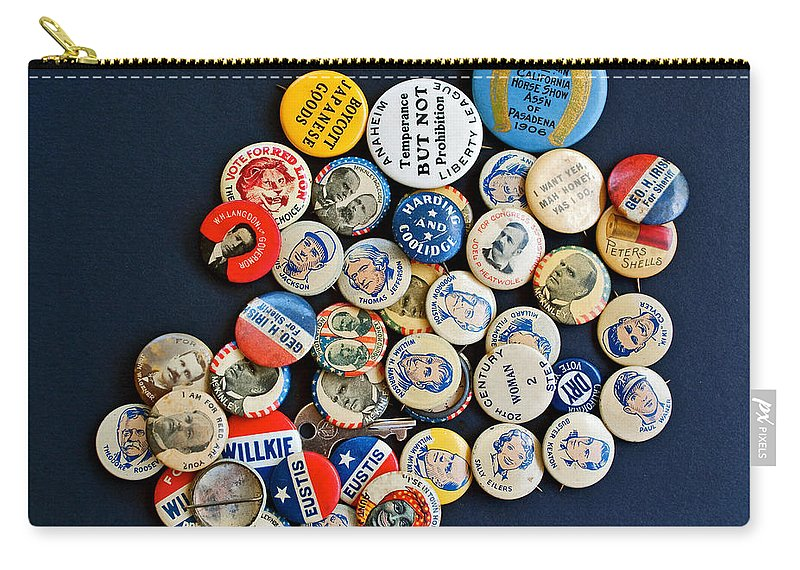 Buttons Carry-all Pouch featuring the photograph Buttons by Gwyn Newcombe