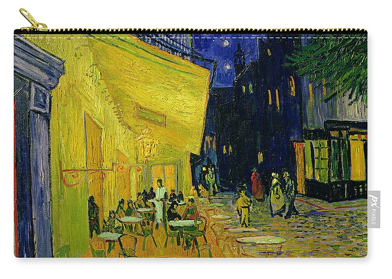 Cafe Terrace Carry-all Pouch featuring the painting Cafe Terrace Arles by Vincent van Gogh