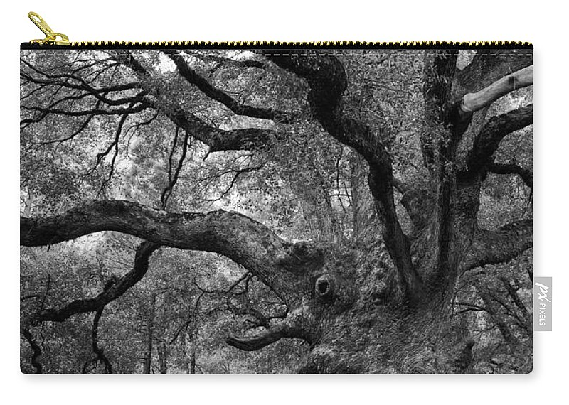 California Black Oak Carry-all Pouch featuring the photograph California Black Oak Tree by B Christopher