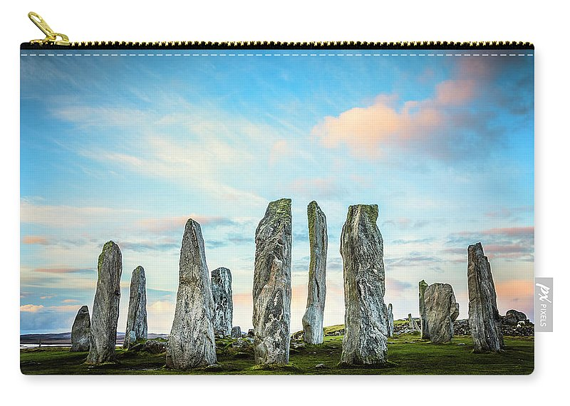 Prehistoric Era Carry-all Pouch featuring the photograph Callanish Standing Stones, Isle Of Lewis by Theasis