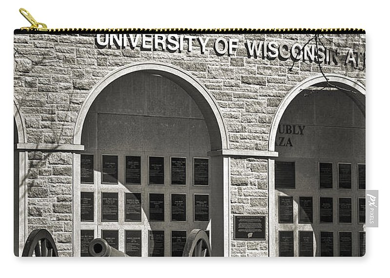 Badger Carry-all Pouch featuring the photograph Camp Randall - Madison by Steven Ralser