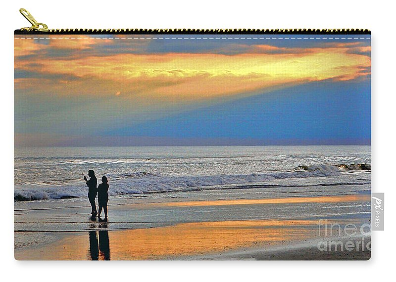 Ocean Carry-all Pouch featuring the photograph Can You Hear Me Now? by Lydia Holly
