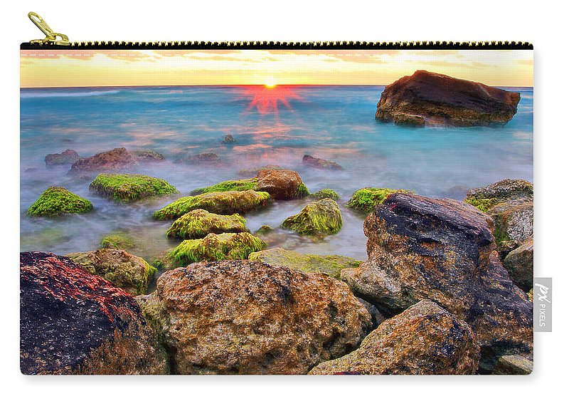 Cancun Carry-all Pouch featuring the photograph Cancun Sunrise by Marcia Colelli