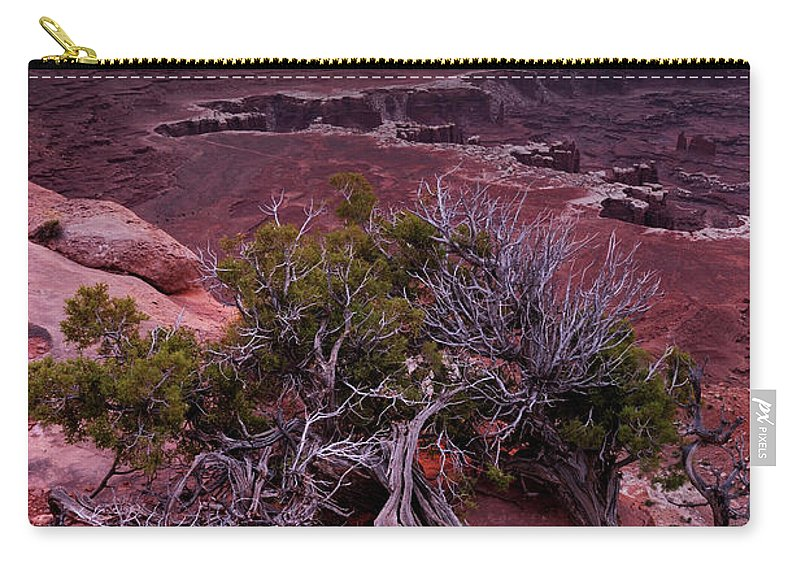 Scenics Carry-all Pouch featuring the photograph Canyonlands Sunrise Landscape With Dry by Rezus