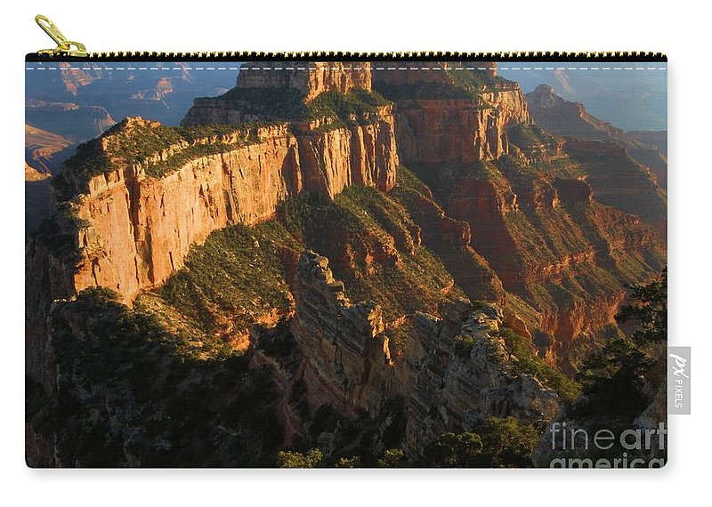 Grand Canyon Carry-all Pouch featuring the photograph Cape Royal Glow by Adam Jewell