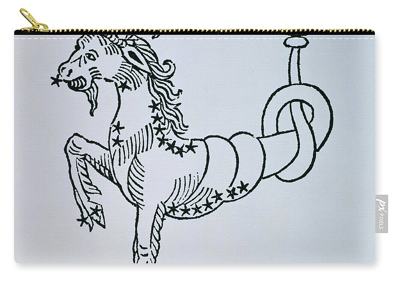 Capricorn Carry-all Pouch featuring the drawing Capricorn by Italian School
