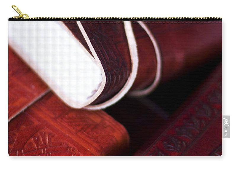 Antique Carry-all Pouch featuring the photograph Captains Log Books by Jorgo Photography - Wall Art Gallery