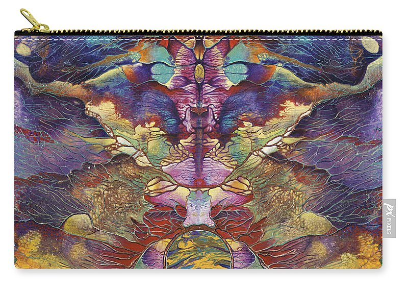 Rorschach Carry-all Pouch featuring the painting Carnaval by Ricardo Chavez-Mendez