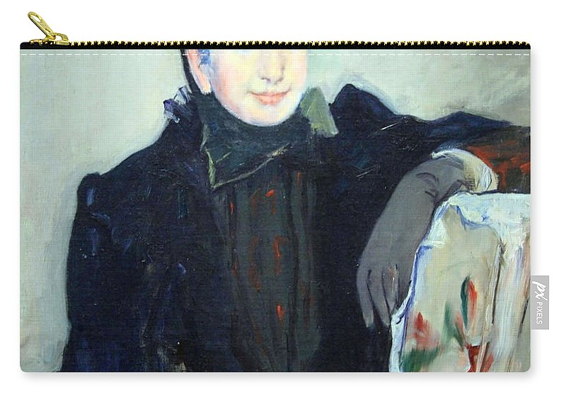Portrait Of An Elderly Lady Carry-all Pouch featuring the photograph Cassatt's Portrait Of An Elderly Lady by Cora Wandel