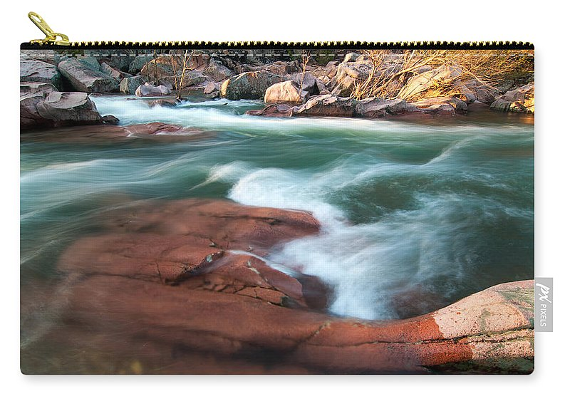 Castor River Shut Ins Carry-all Pouch featuring the photograph Castor River by Steve Stuller