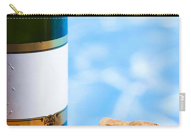 Alcohol Carry-all Pouch featuring the photograph Champagne Bottle And Cork by Jorgo Photography - Wall Art Gallery