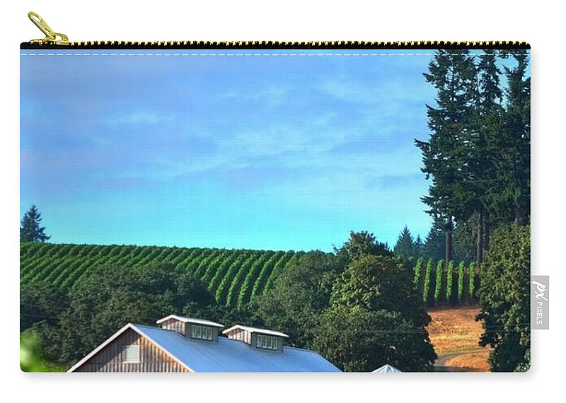 Hdr Carry-all Pouch featuring the photograph Chardonnay Vineyard 17954 by Jerry Sodorff