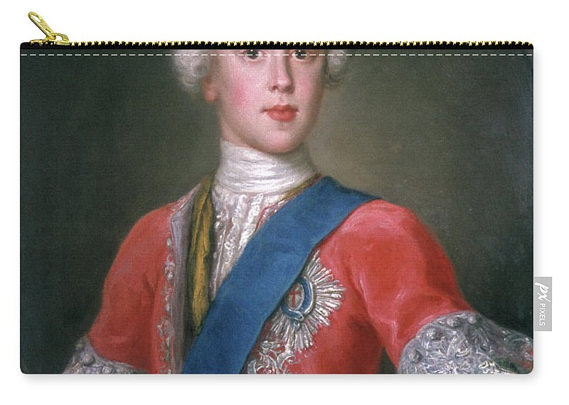 1732 Carry-all Pouch featuring the painting Charles Edward Stuart (1720-1788) by Granger