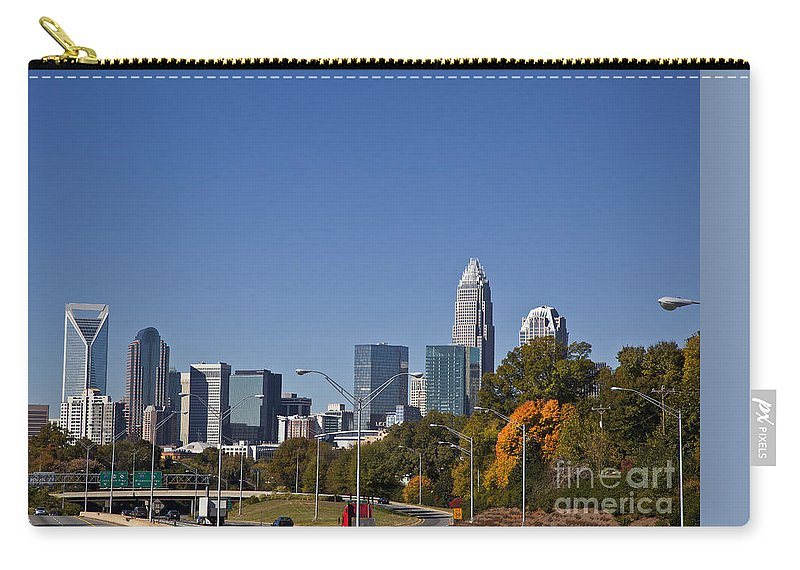 Skyline Carry-all Pouch featuring the photograph Charlotte Skyline by Jill Lang