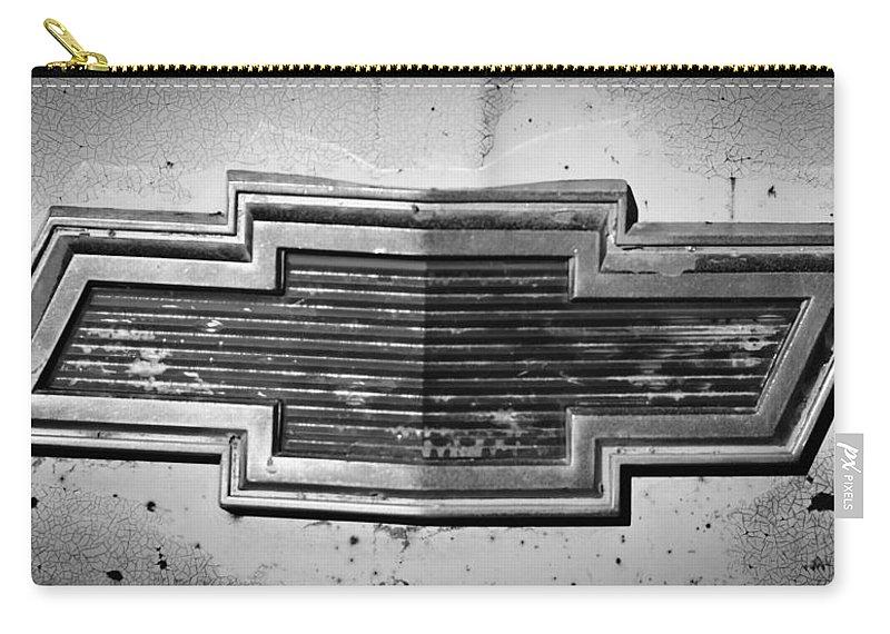 Chevrolet Emblem Carry-all Pouch featuring the photograph Chevrolet Emblem by Jill Reger