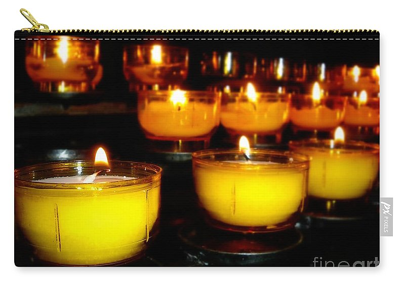 Holiday Carry-all Pouch featuring the photograph Church Candles by Henrik Lehnerer