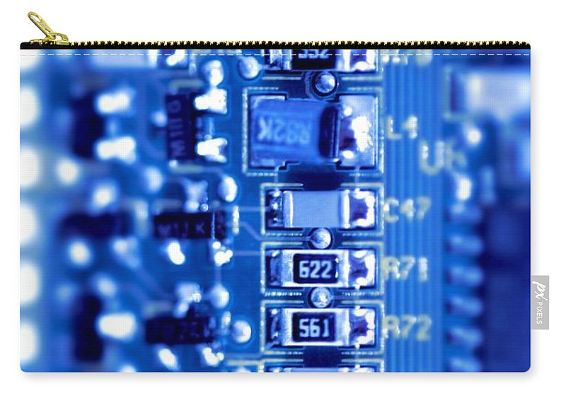 Computer Carry-all Pouch featuring the photograph Circuit Board by Henrik Lehnerer