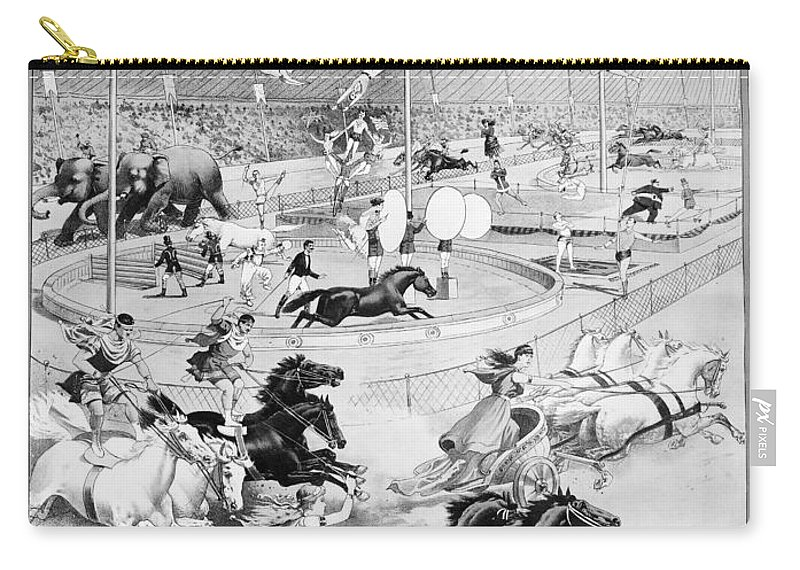 1900 Carry-all Pouch featuring the painting Circus Poster, 1900 by Granger