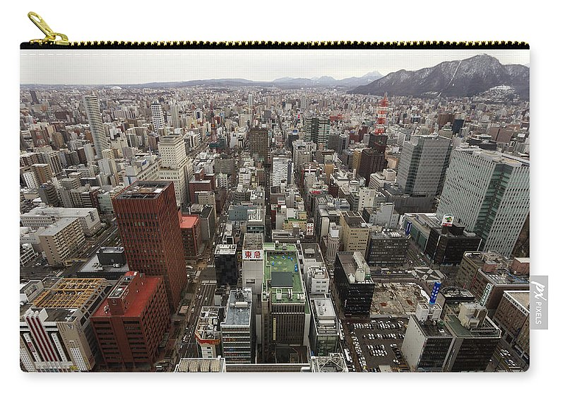 Hokkaido Carry-all Pouch featuring the photograph Cityscape Of Sapporo, Hokkaido, Japan by Tetsuya Aoki