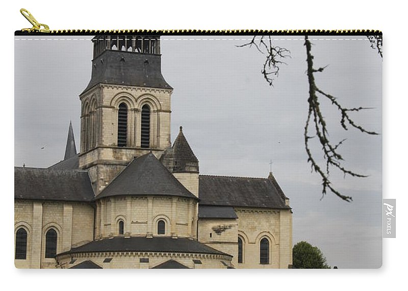 Cloister Carry-all Pouch featuring the photograph Cloister Fontevraud - France by Christiane Schulze Art And Photography